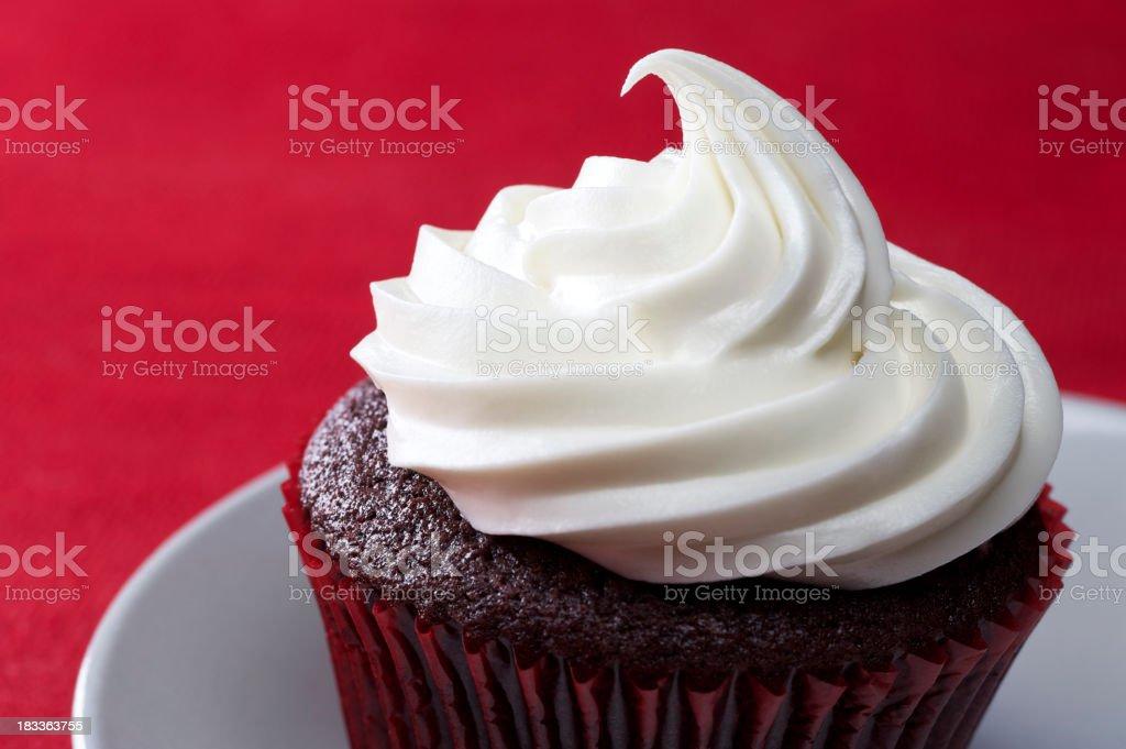 Red Velvet Cupcake royalty-free stock photo