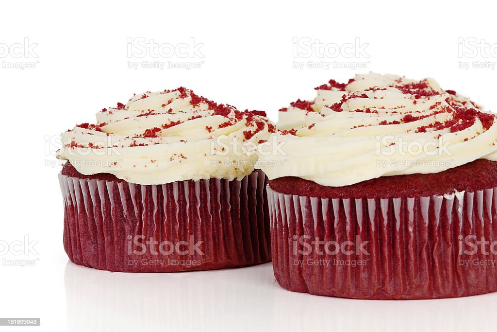 Red Velvet Cupcakes royalty-free stock photo