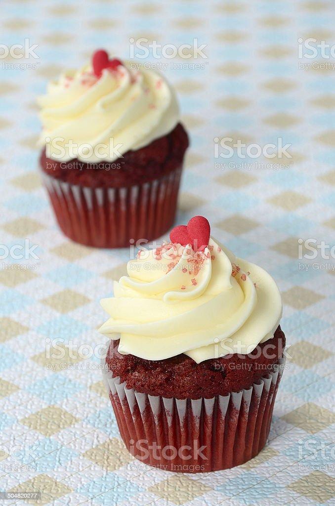 Red Velvet Cupcakes royalty-free stock photo