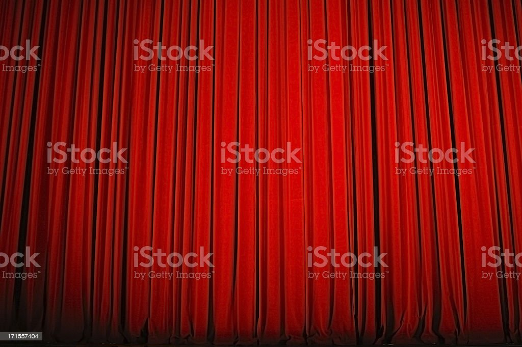Red velvet curtain royalty-free stock photo