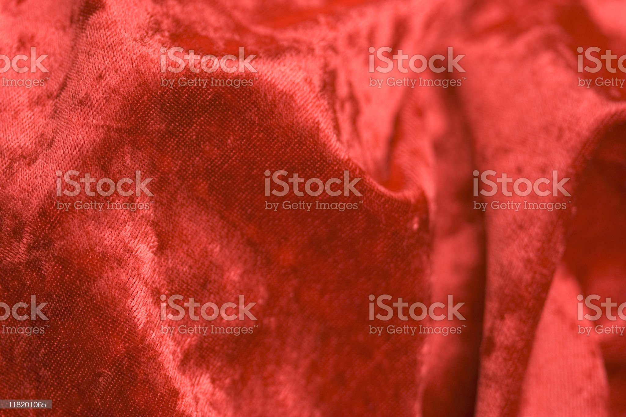 Red Velvet Fabric royalty-free stock photo