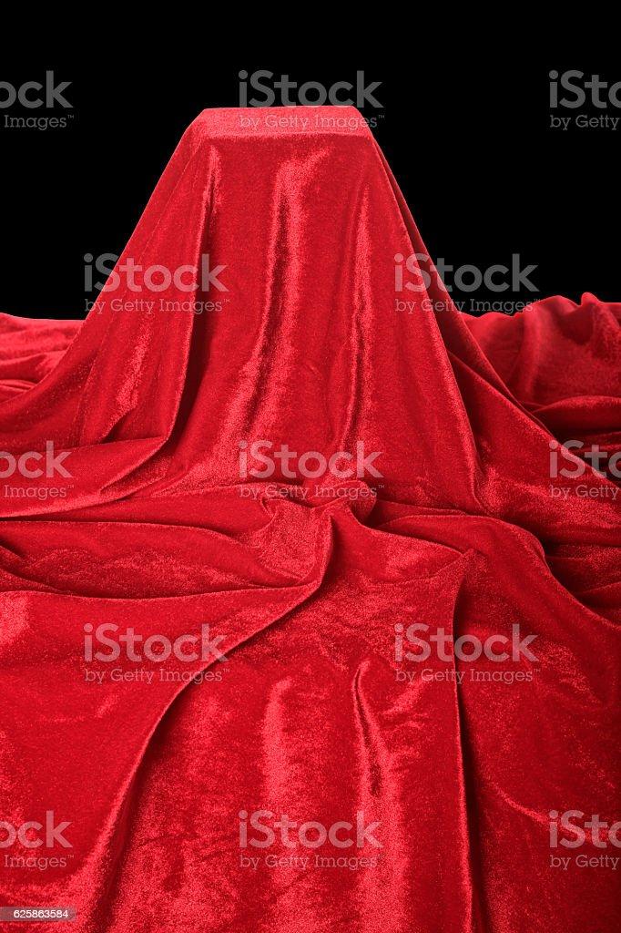 red velvet pedestal stock photo