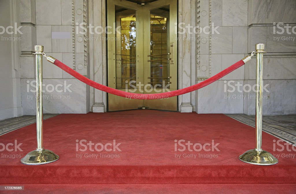 Red Velvet Rope Barrier royalty-free stock photo
