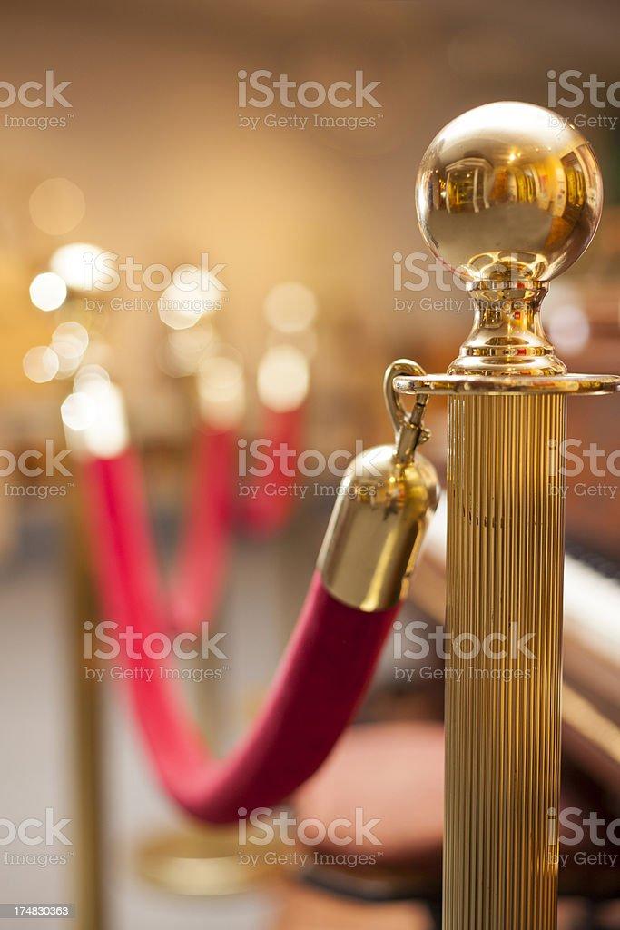 Red Velvet Rope royalty-free stock photo