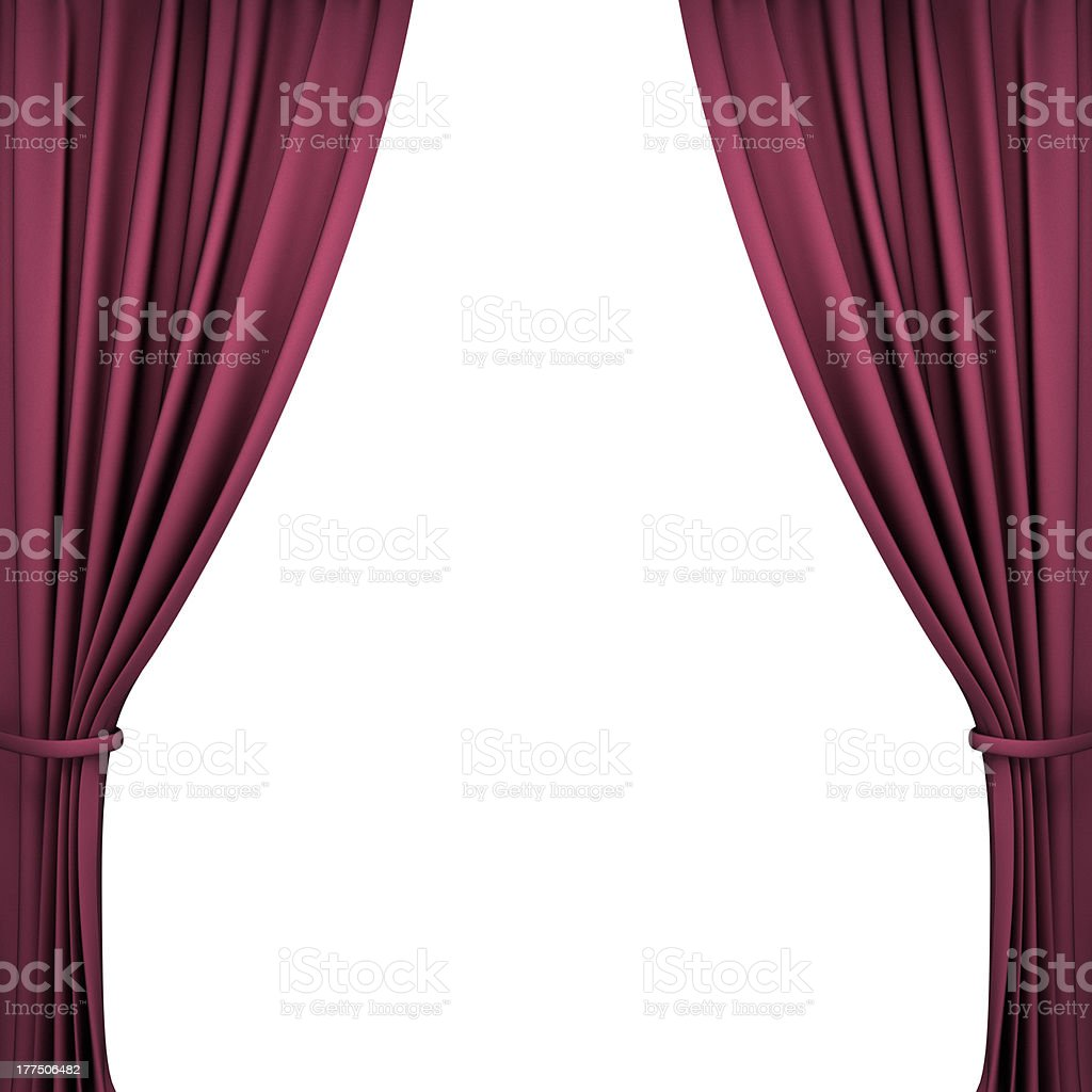 Red Velvet Theater Curtains royalty-free stock photo