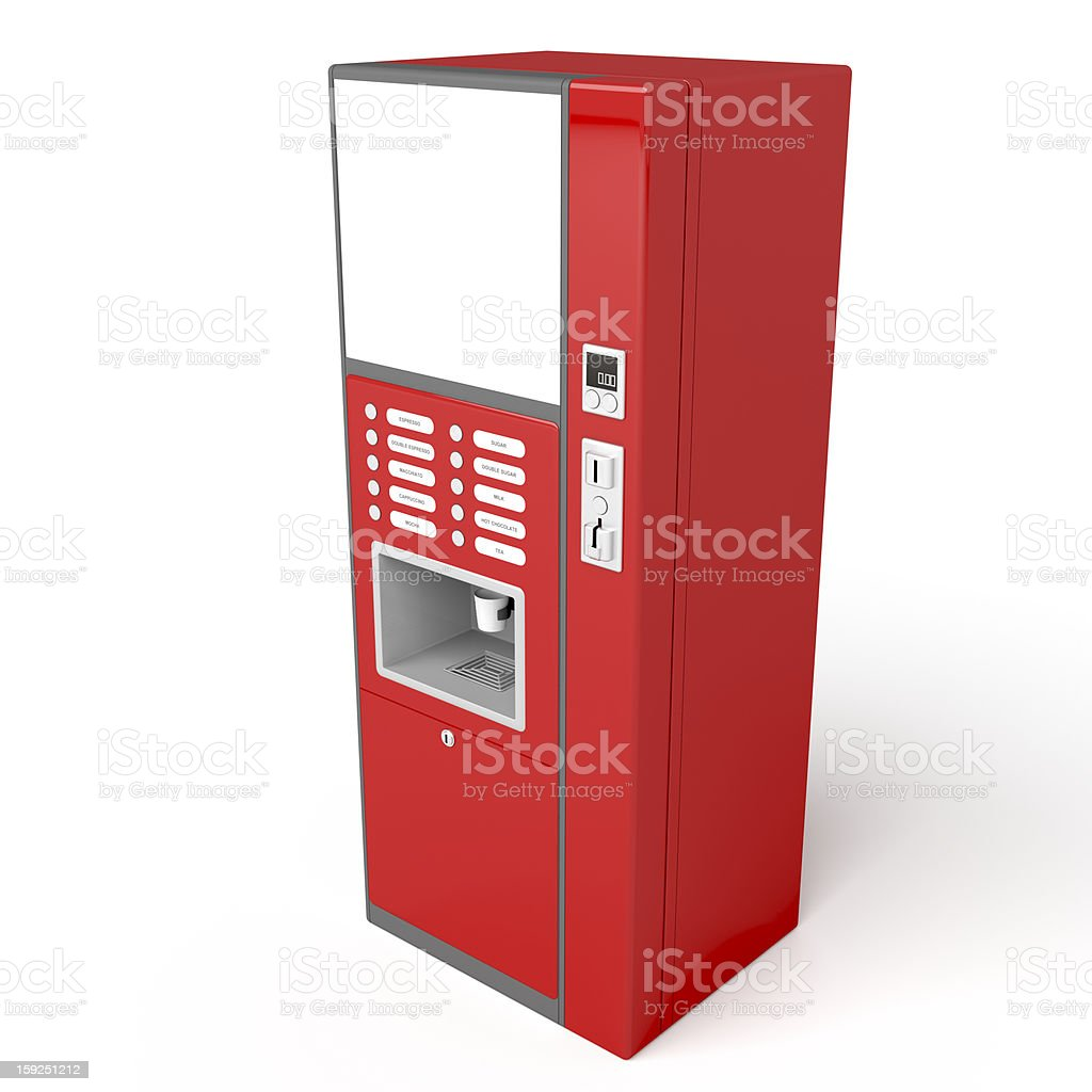 Red vending machine stock photo