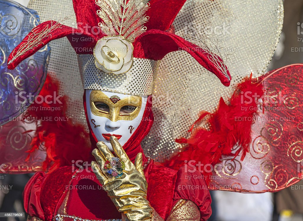 Red Venetian Disguise royalty-free stock photo