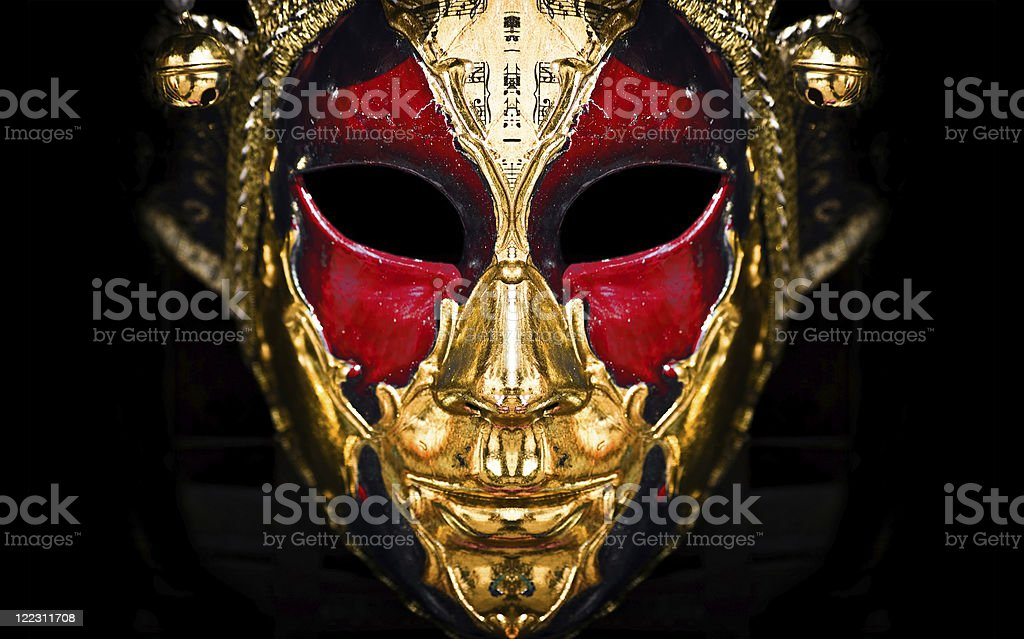 Red venetian mask royalty-free stock photo