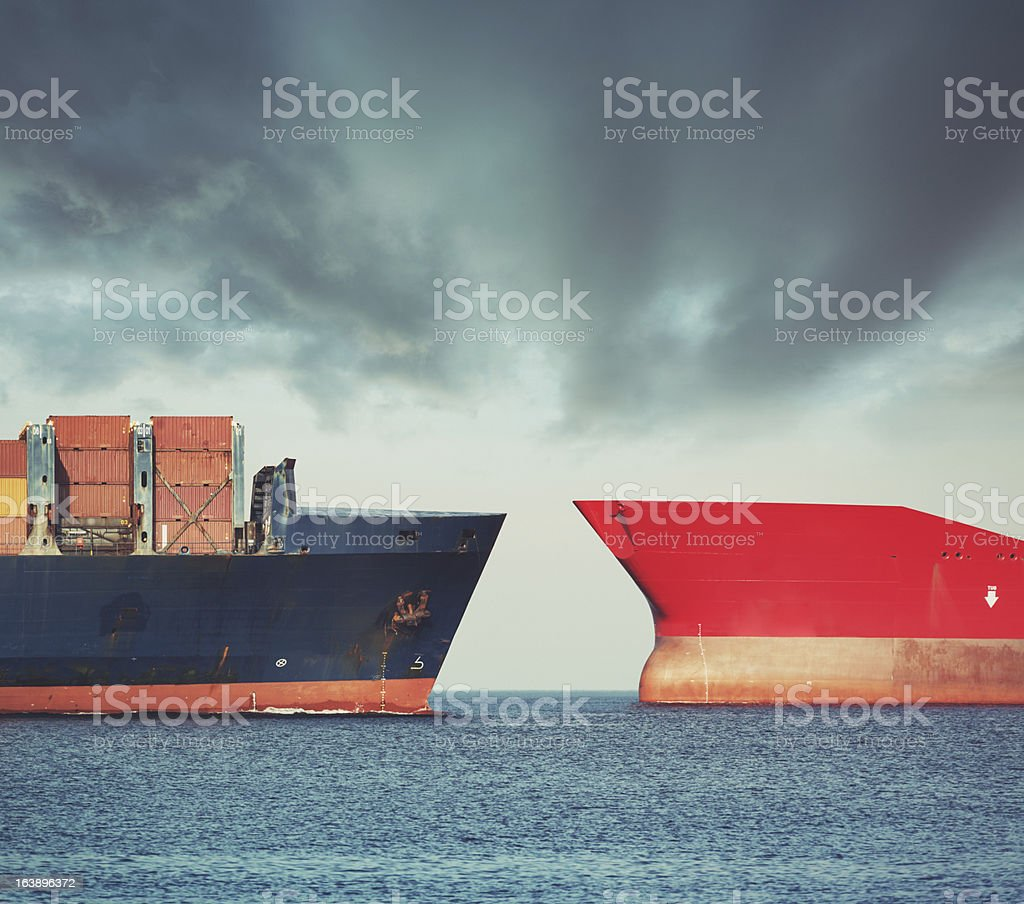 Red versus Blue stock photo