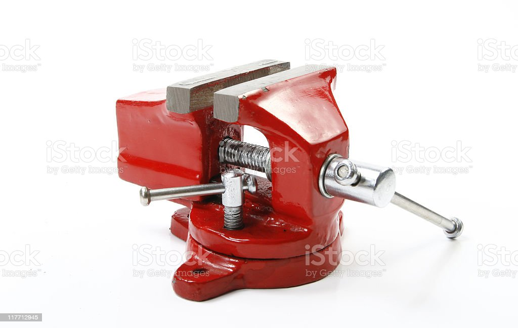 Red vice tool stock photo