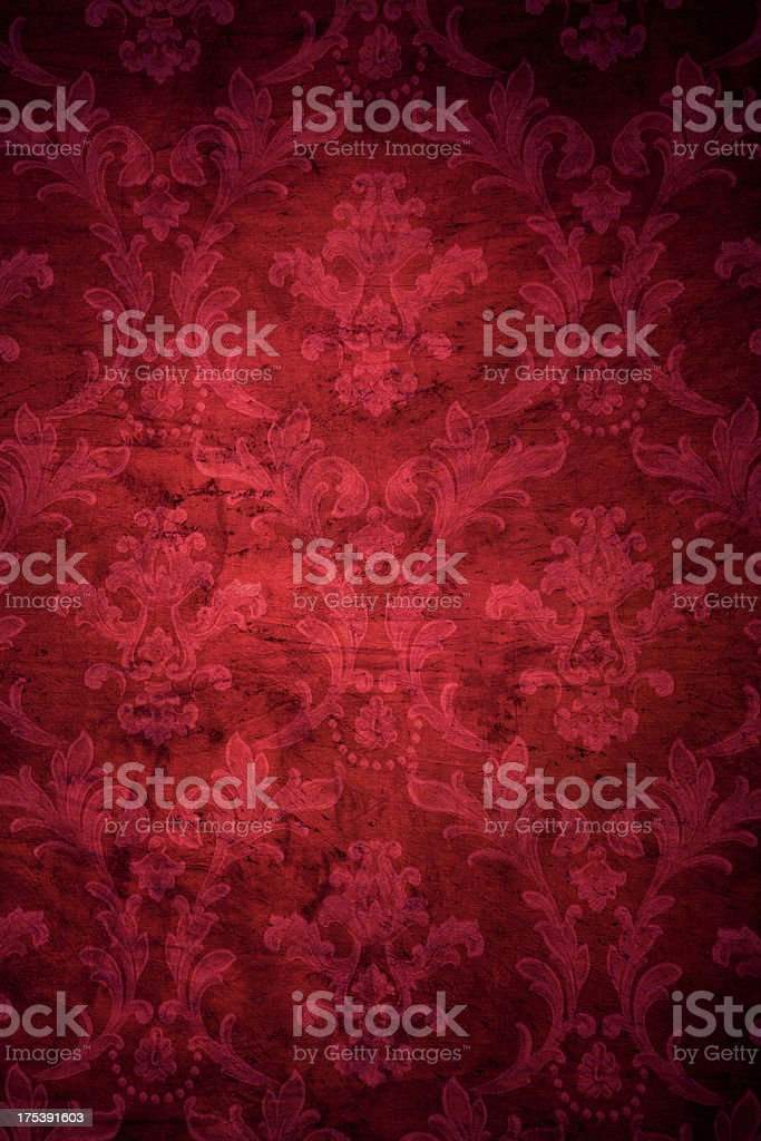 Red Victorian Grunge Background royalty-free stock photo