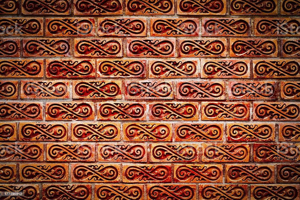 red vintage brick wall royalty-free stock photo