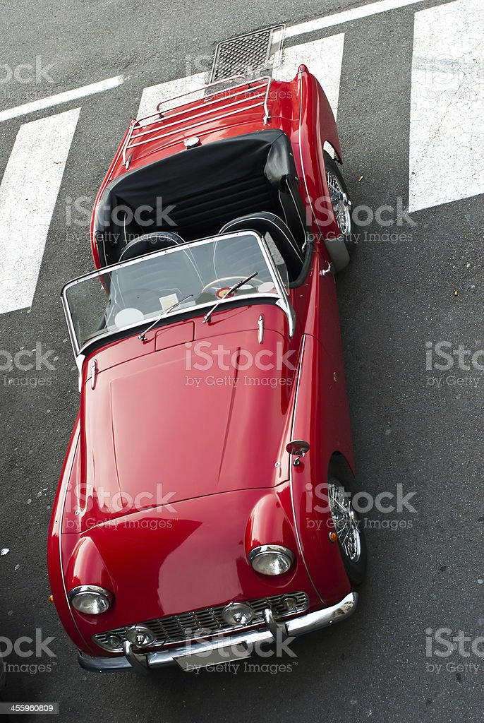 Red Vintage car royalty-free stock photo