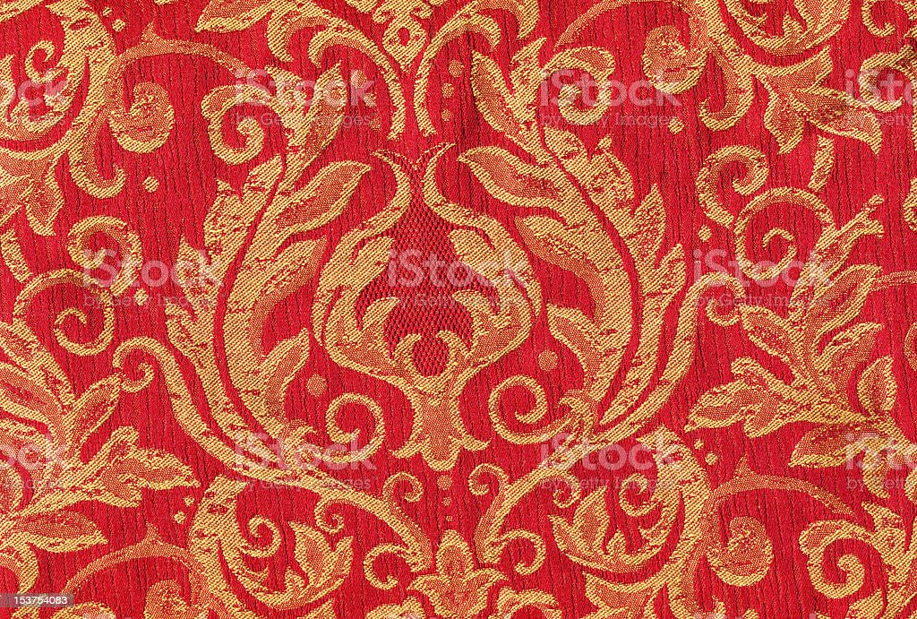 Red vintage fabric royalty-free stock photo