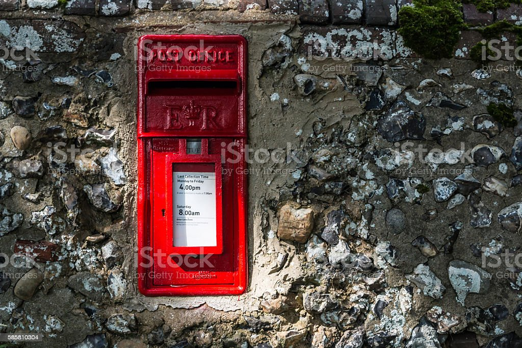 Red Vintage Letterbox stock photo