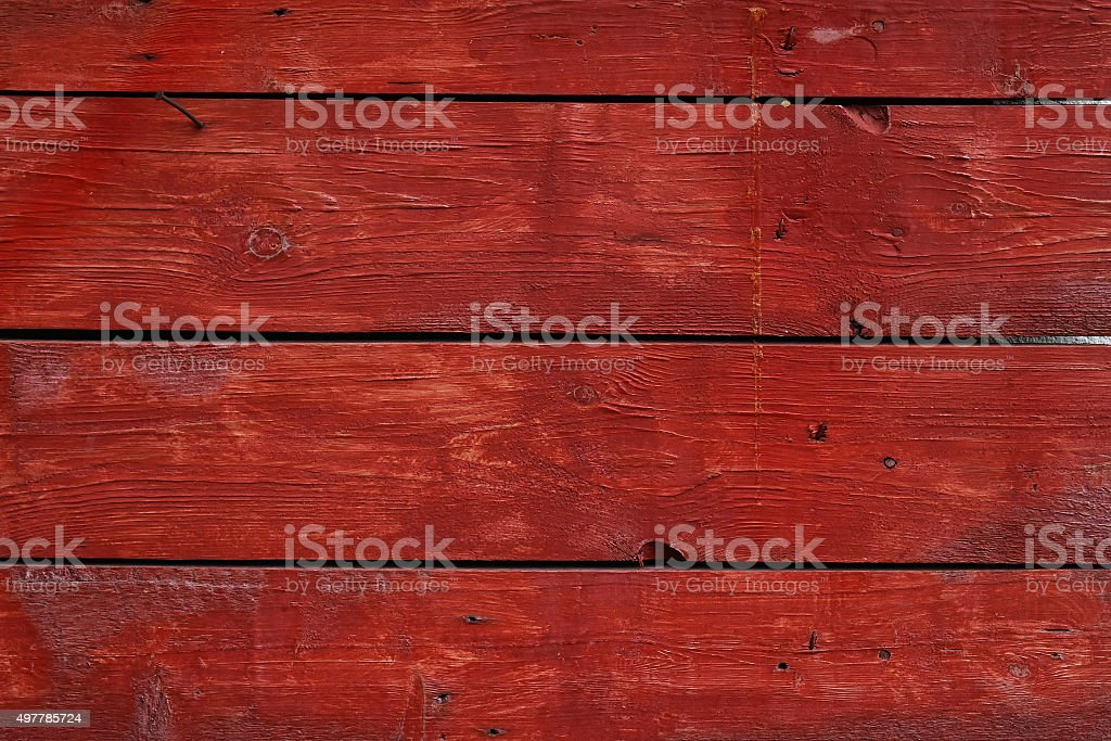 Red vintage painted wooden panel with horizontal planks royalty-free stock photo