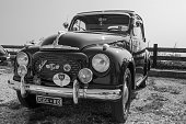 Red vintage Topolino car.