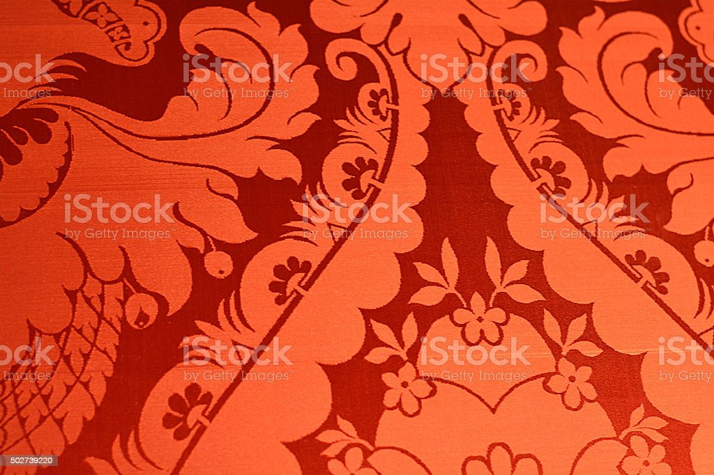 red vintage wallpaper stock photo