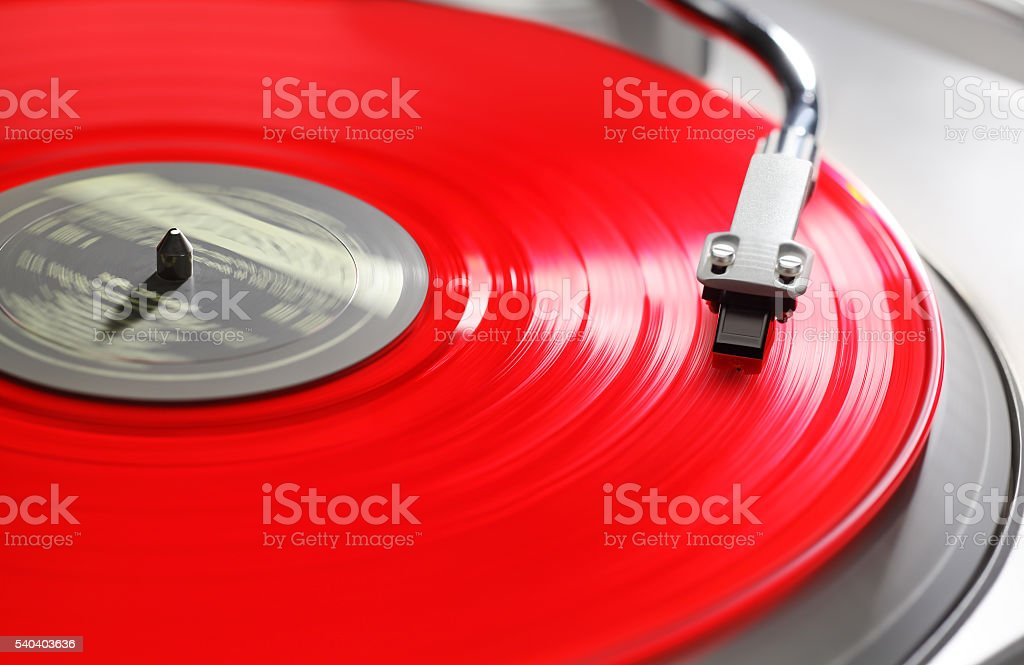 Red Vinyl stock photo