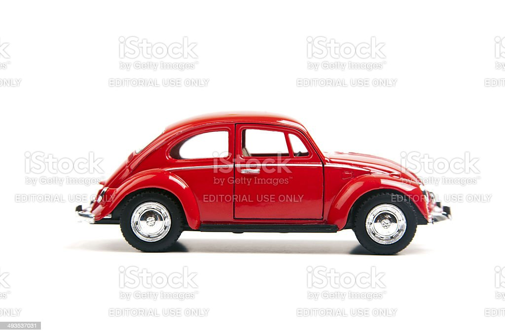 Red Volkswagen Beetle stock photo