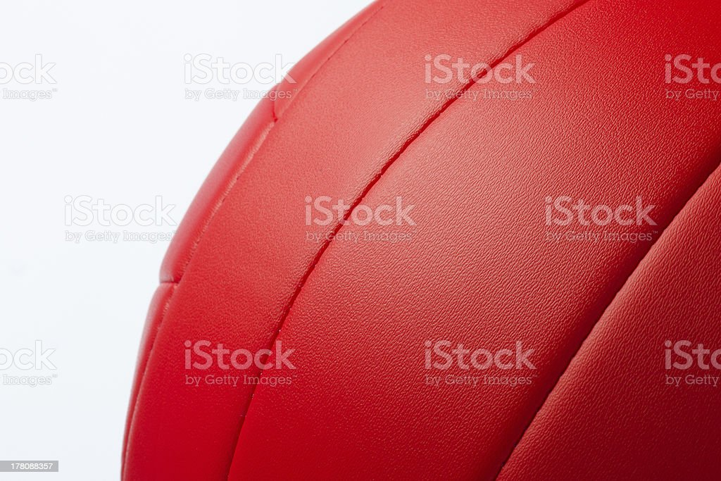 Red volley ball royalty-free stock photo