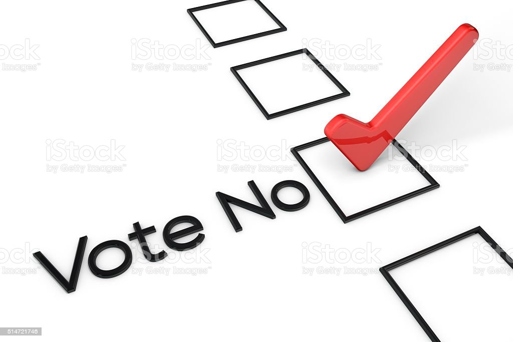 Red Vote no tick box stock photo