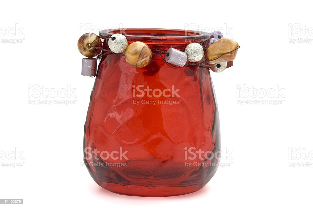 Red votive candle holder royalty-free stock photo
