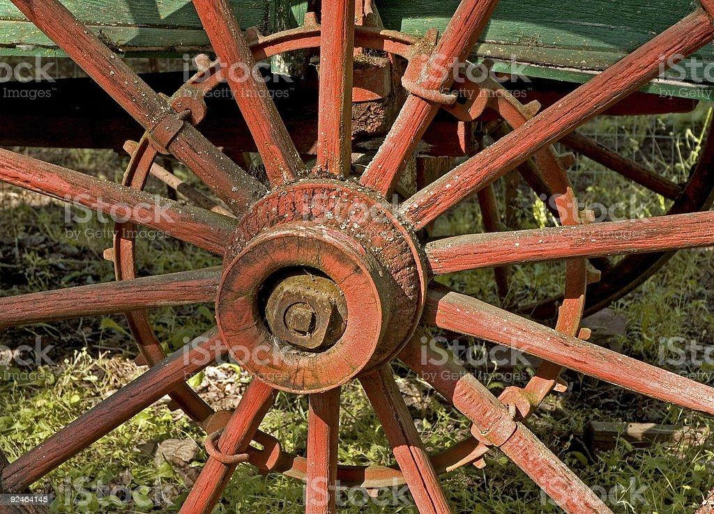 Red Wagon Wheel royalty-free stock photo