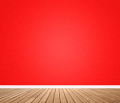 Red wall domestic room