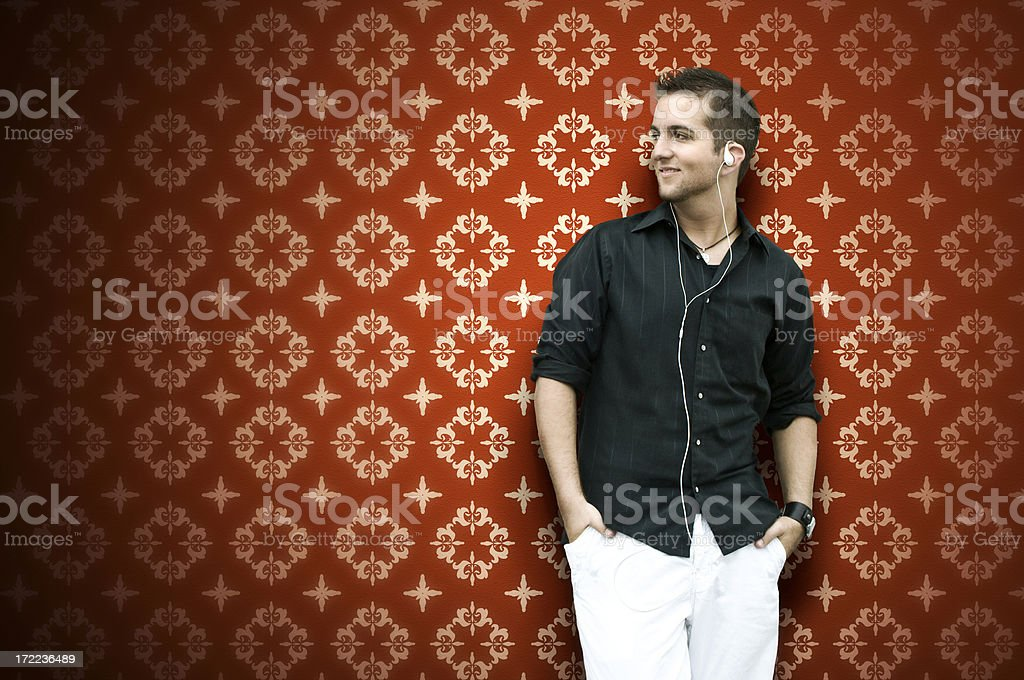 Red Wall Male royalty-free stock photo