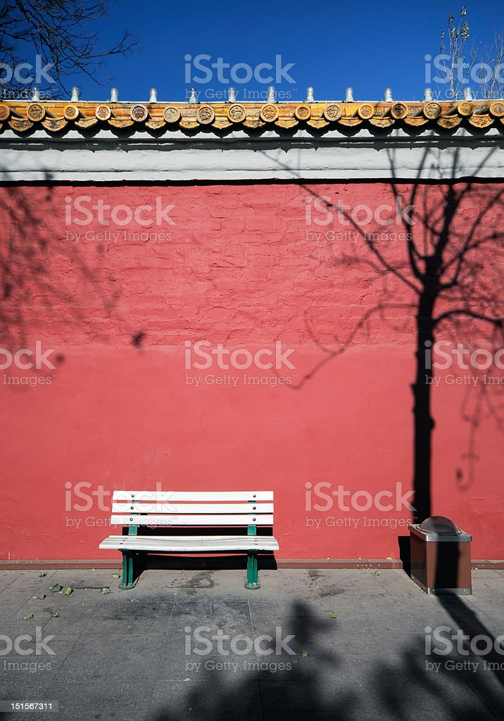 Red Wall stock photo
