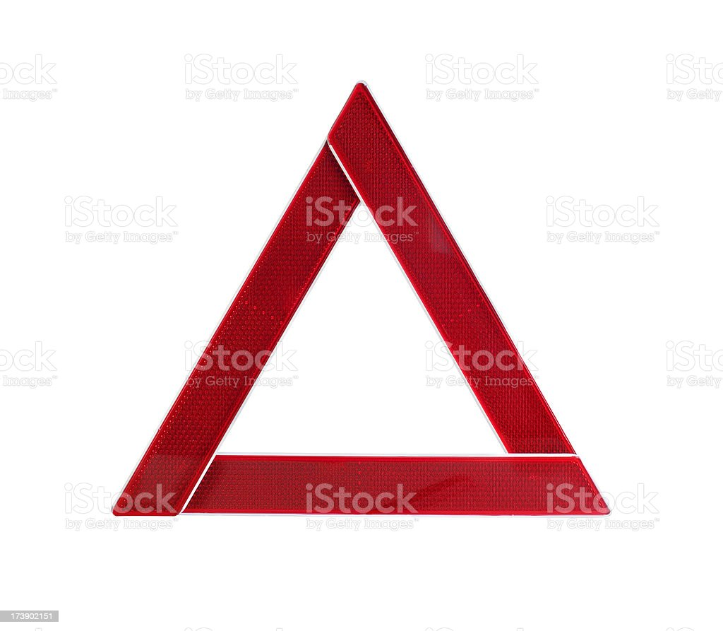 Red Warning Triangle royalty-free stock photo
