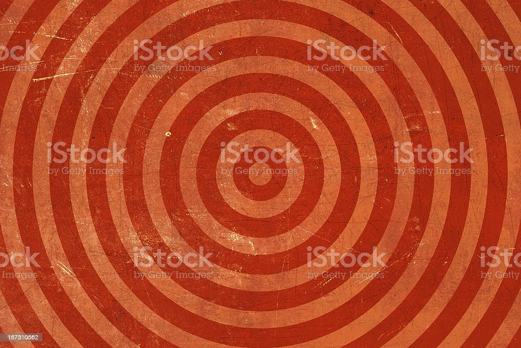 Red Washed out-bullseye Grunge Background royalty-free stock photo