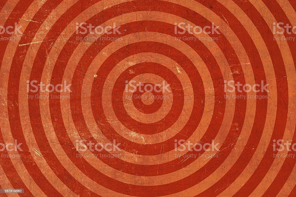 Red Washed out-bullseye Grunge Background stock photo