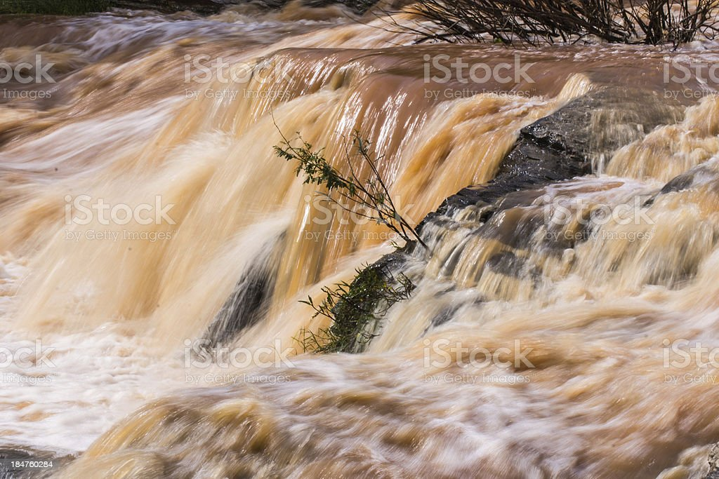 Red Water Flow Detail royalty-free stock photo