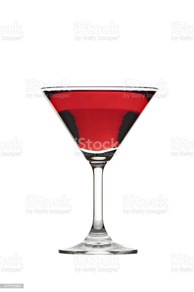 Red water in Glass isolated. royalty-free stock photo