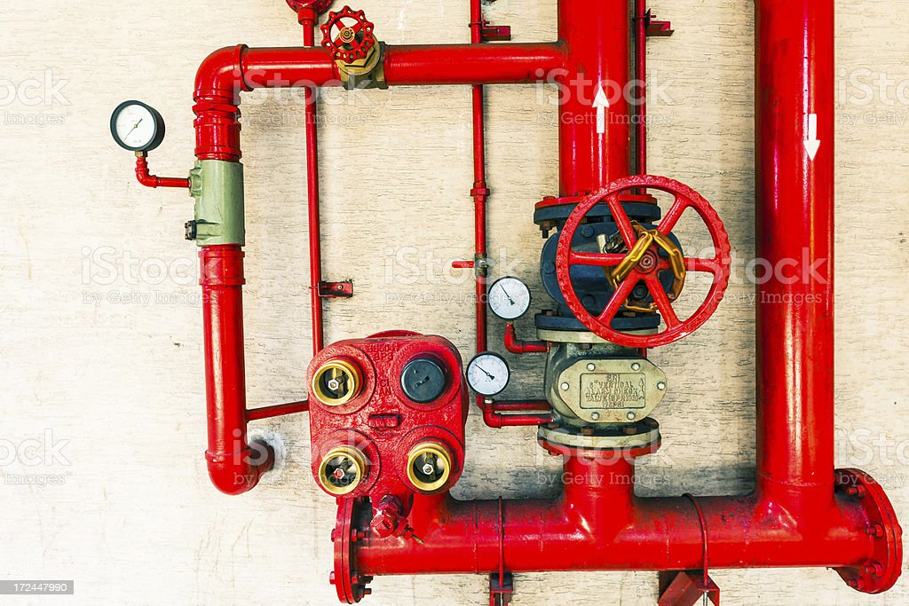 Red Water Pipe royalty-free stock photo
