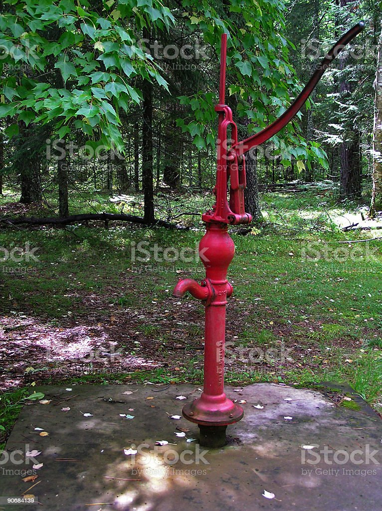 Red Water Pump royalty-free stock photo