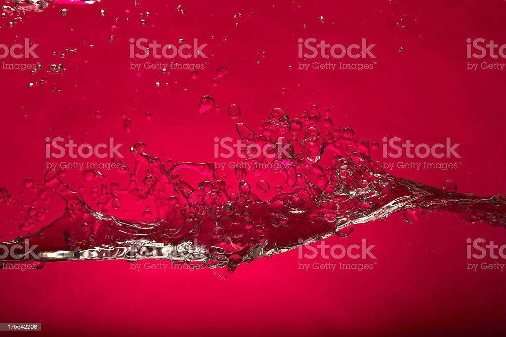 Red water splash royalty-free stock photo