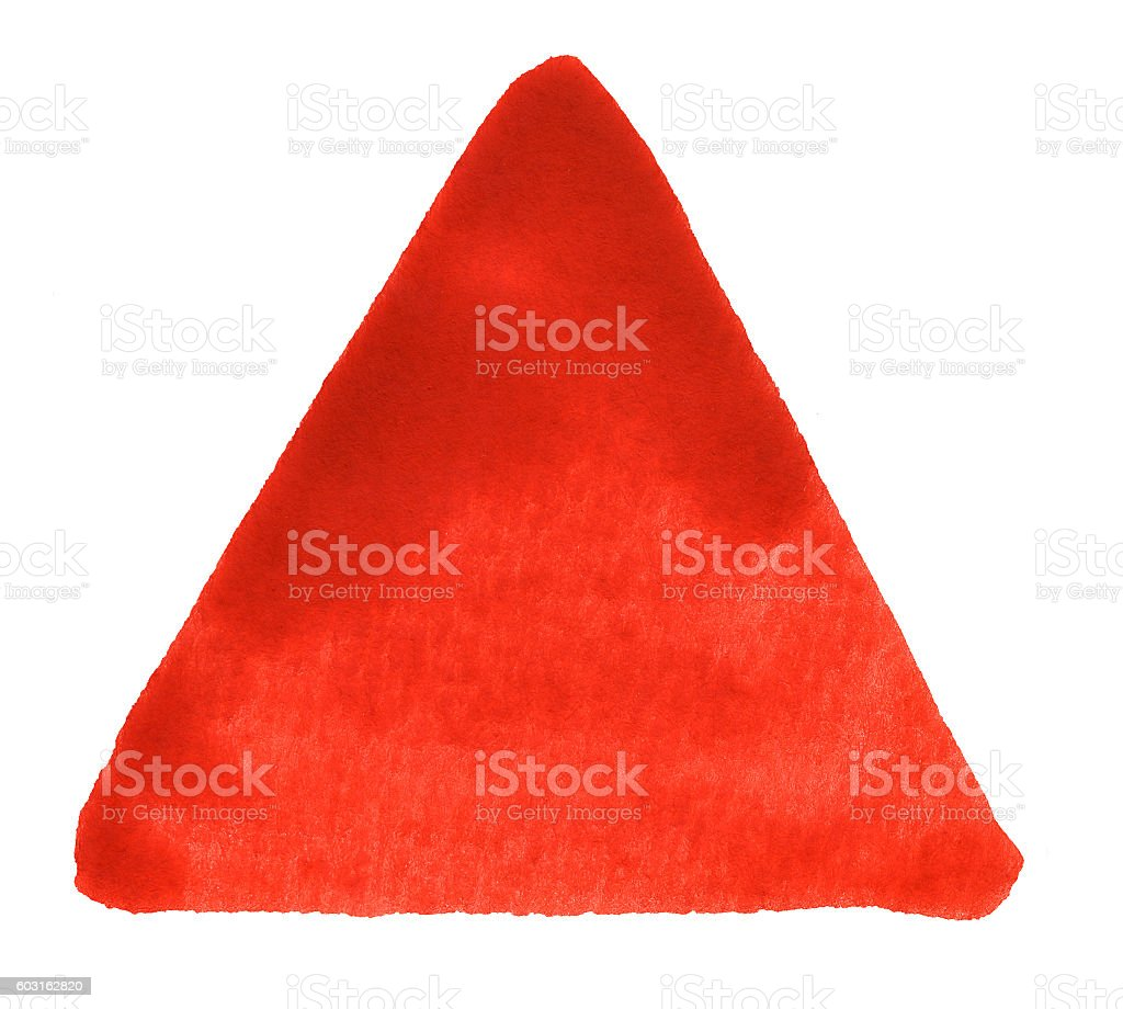 red watercolour triangle stock photo