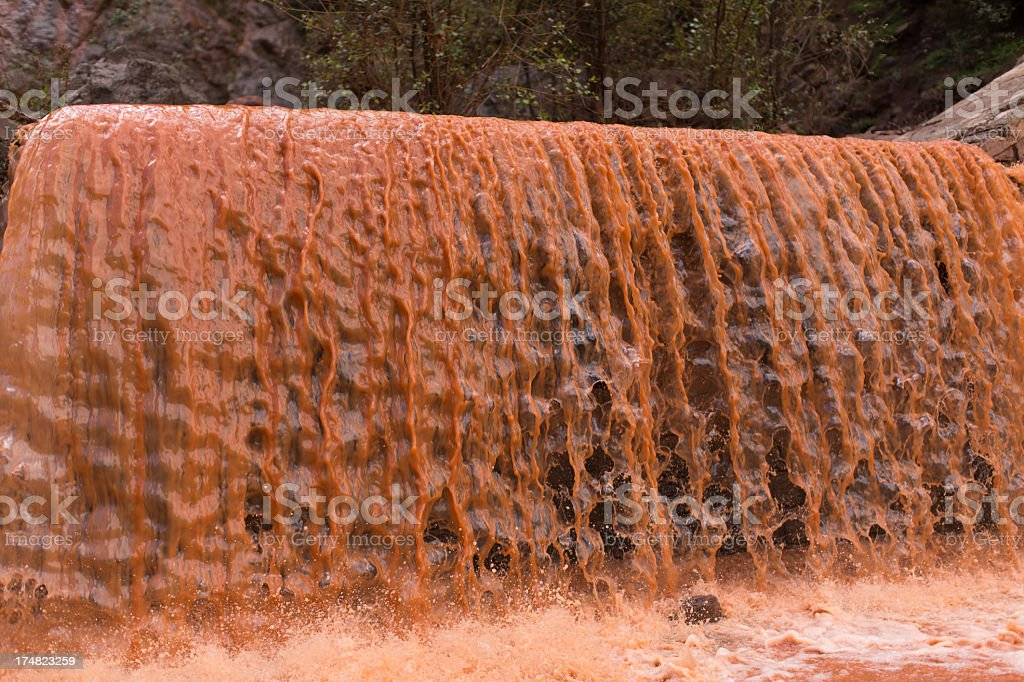 Red Waterfall royalty-free stock photo