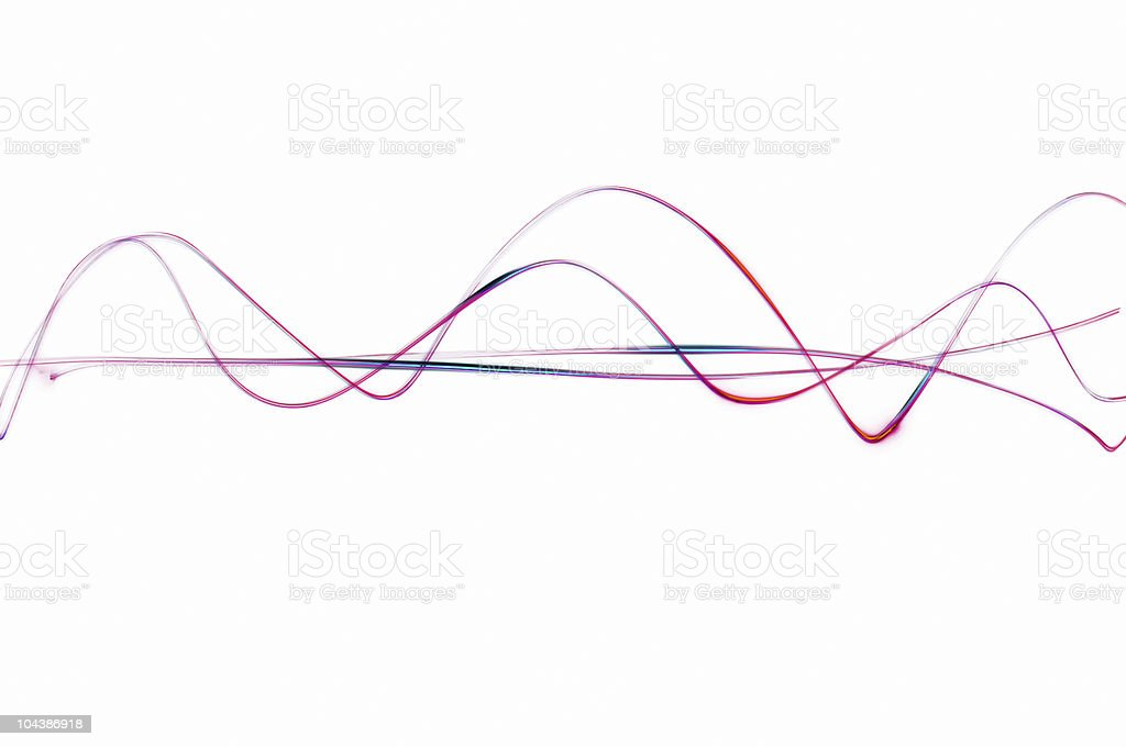 Red waves royalty-free stock photo
