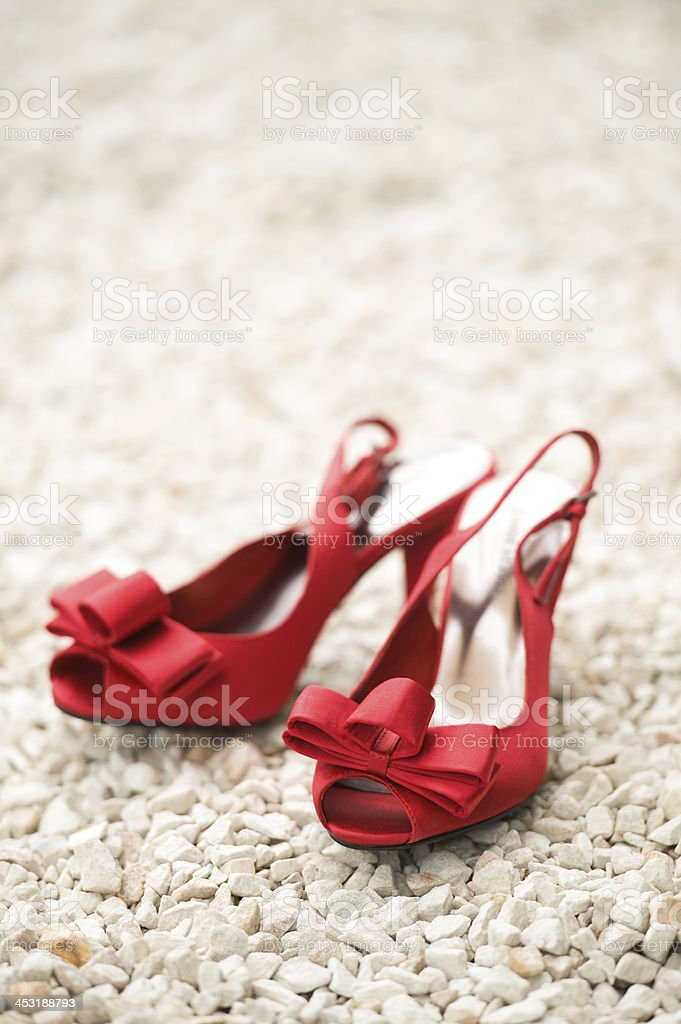 red wedding shoes royalty-free stock photo