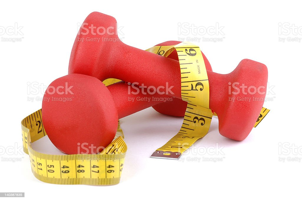 Red Weight with Tape royalty-free stock photo