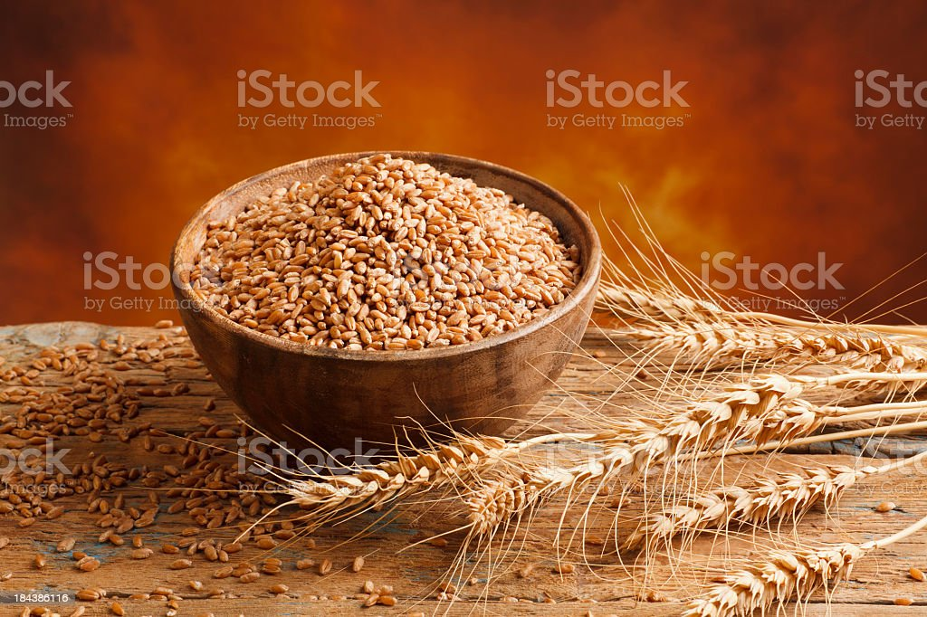 Red Wheat ears stock photo