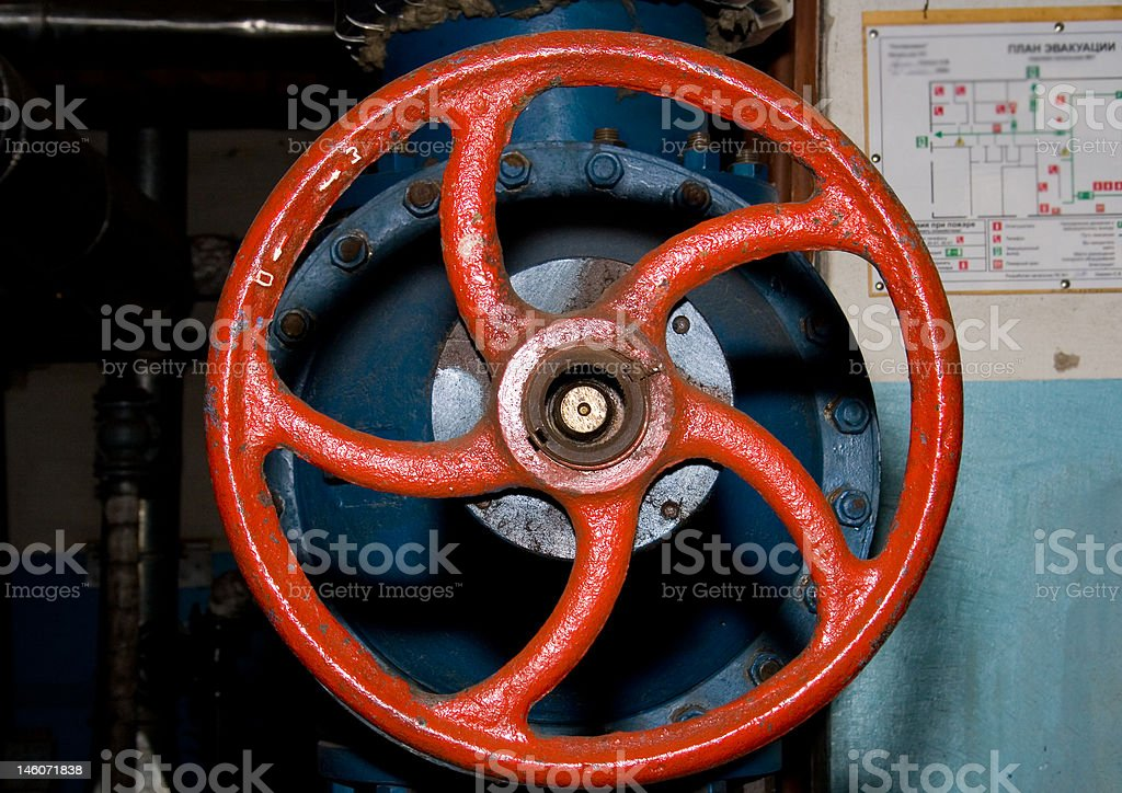 Red wheel royalty-free stock photo