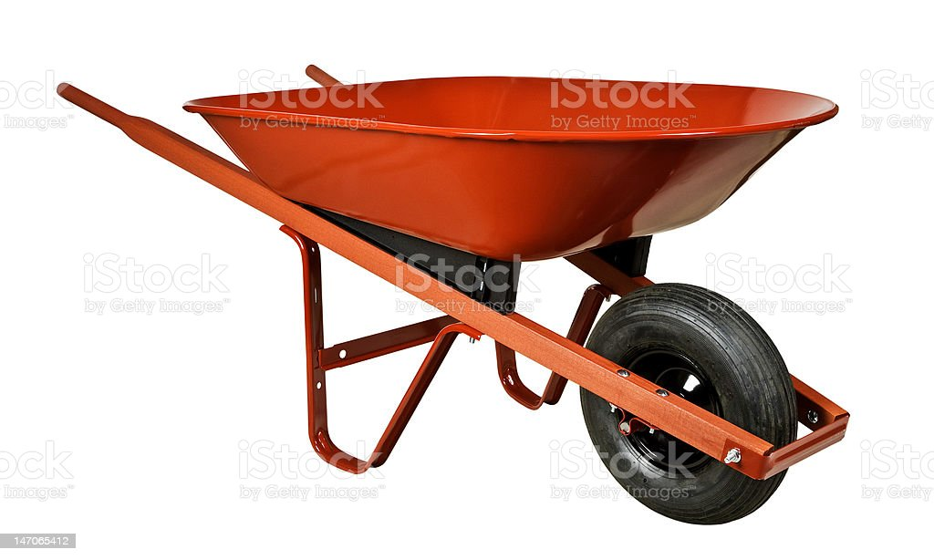 Red Wheelbarrow stock photo
