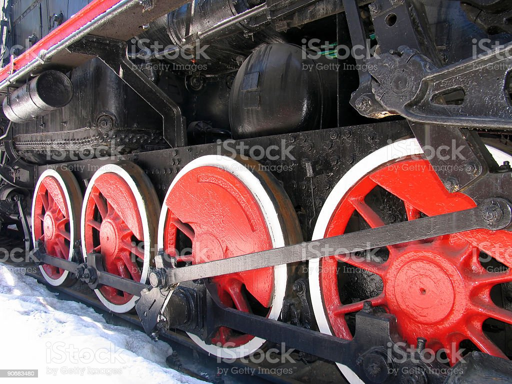 Red wheels royalty-free stock photo