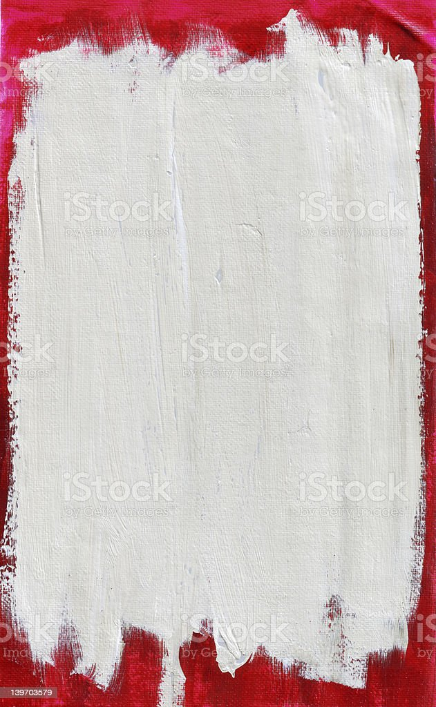 Red White Acrylic on Canvas stock photo
