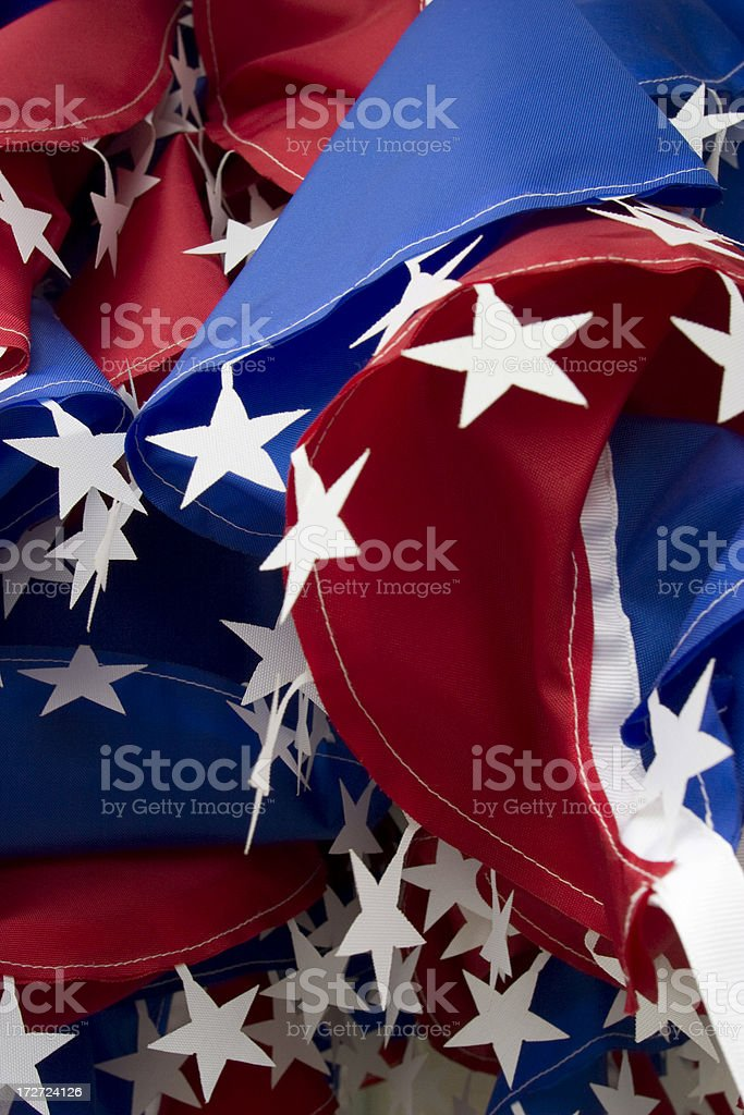 Red, White and Blue Banners With Stars, Patriotic, Background royalty-free stock photo